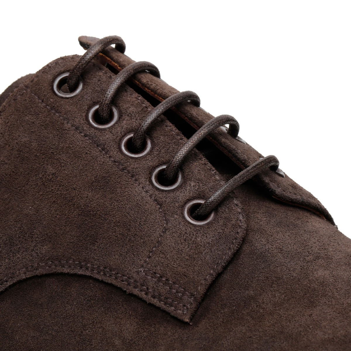 Brown suede leather Derby shoes
