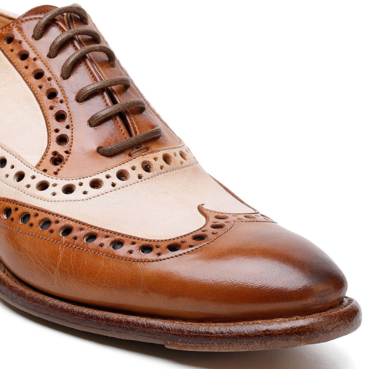 Scarpe Oxford in pelle bicolore