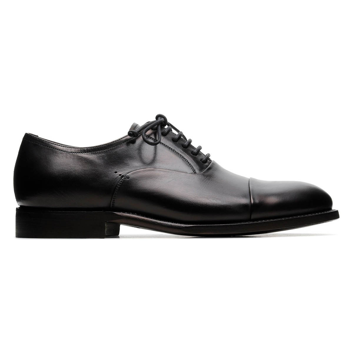 Parigi black leather Derby shoes