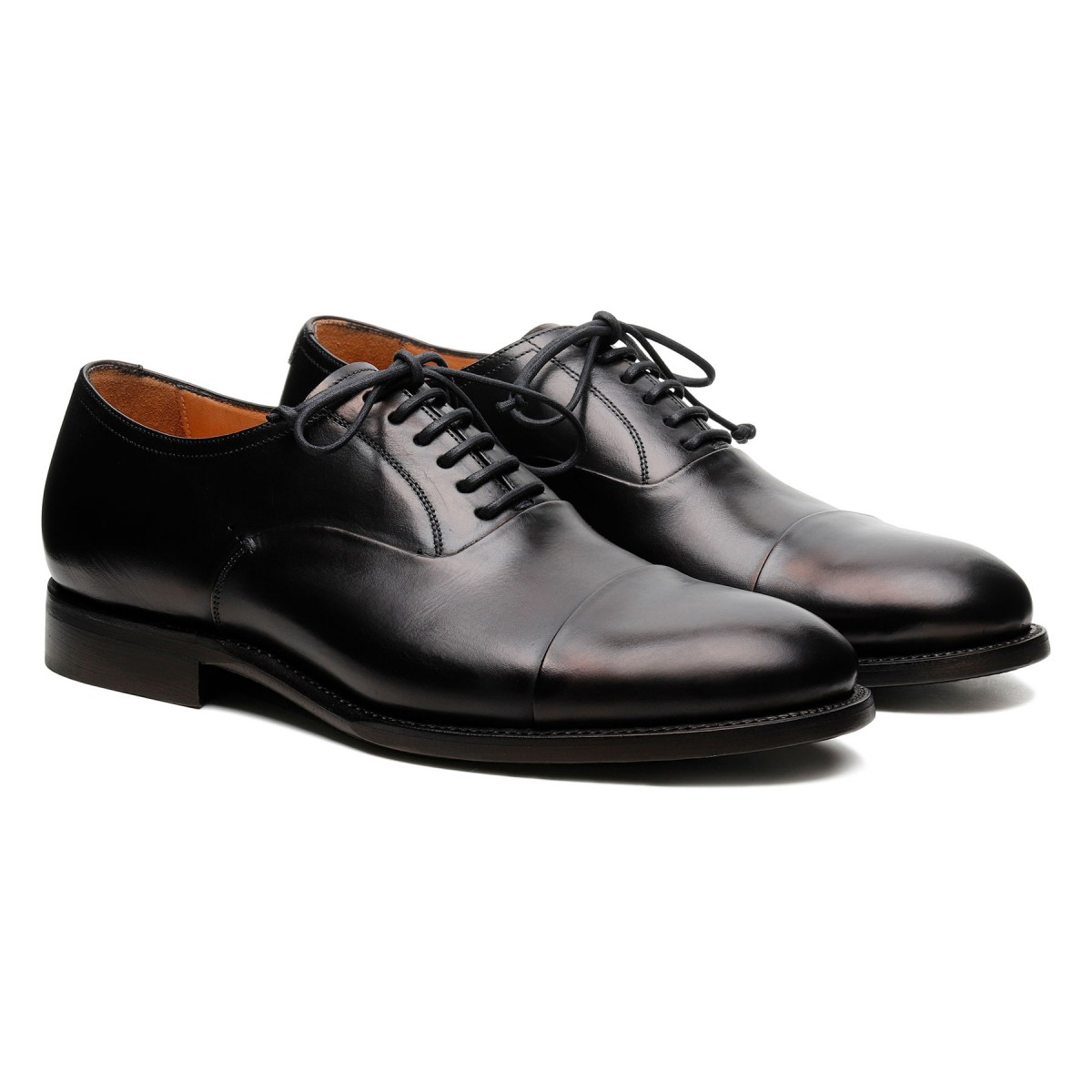 Parigi black leather Derby shoes