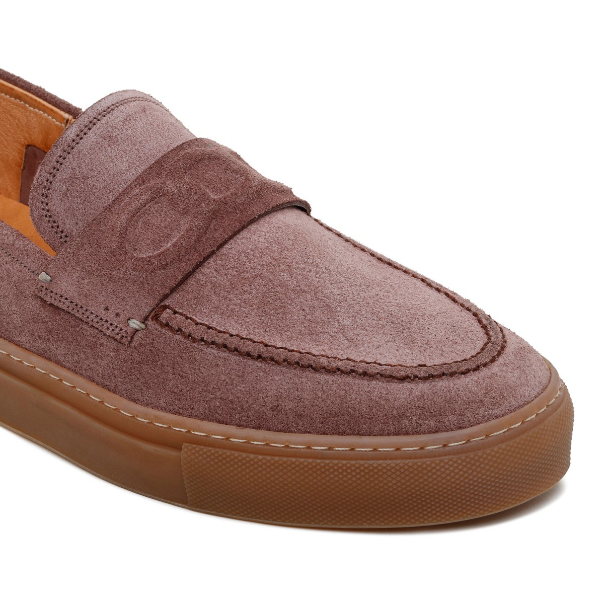 St. Tropez brown suede loafers