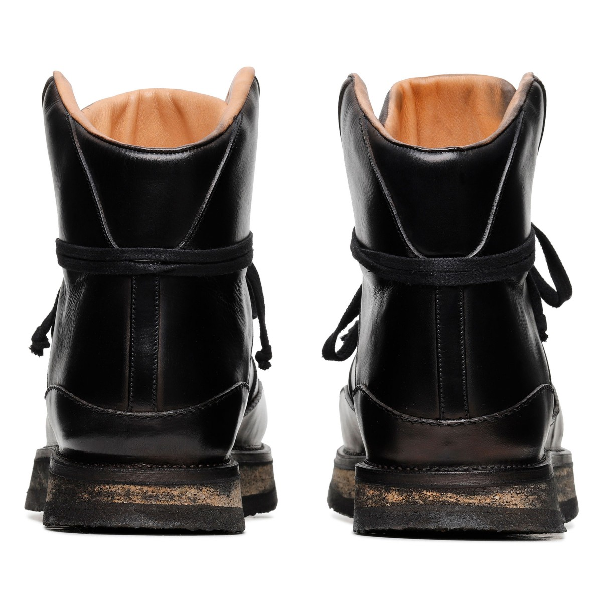 Tokyo black leather ankle boots