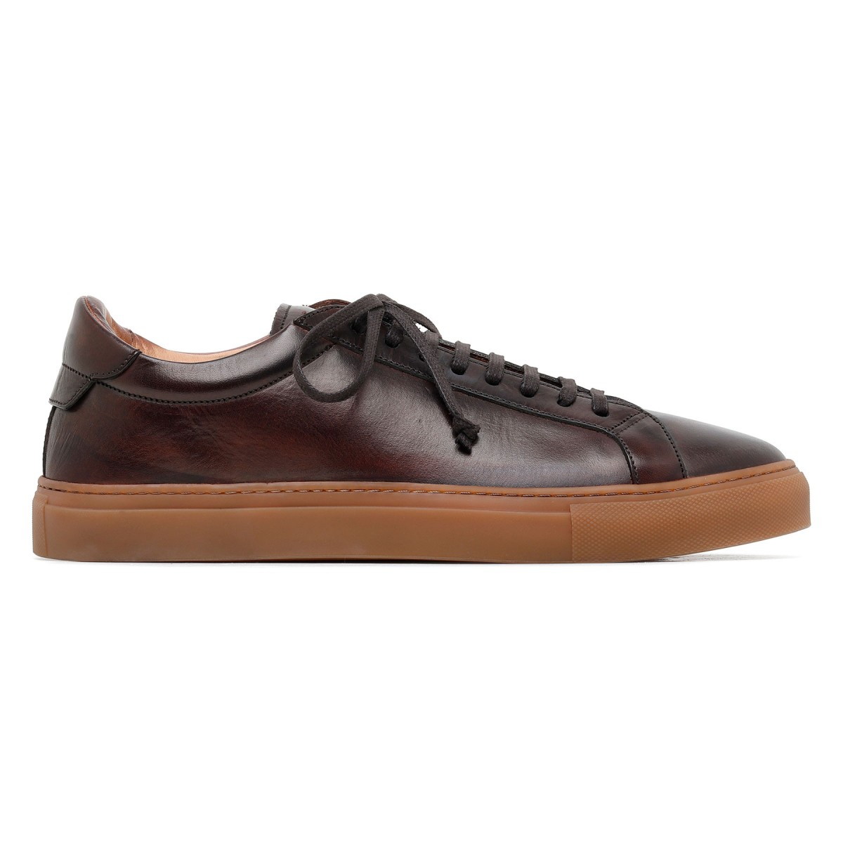 Romilly dark brown leather sneakers