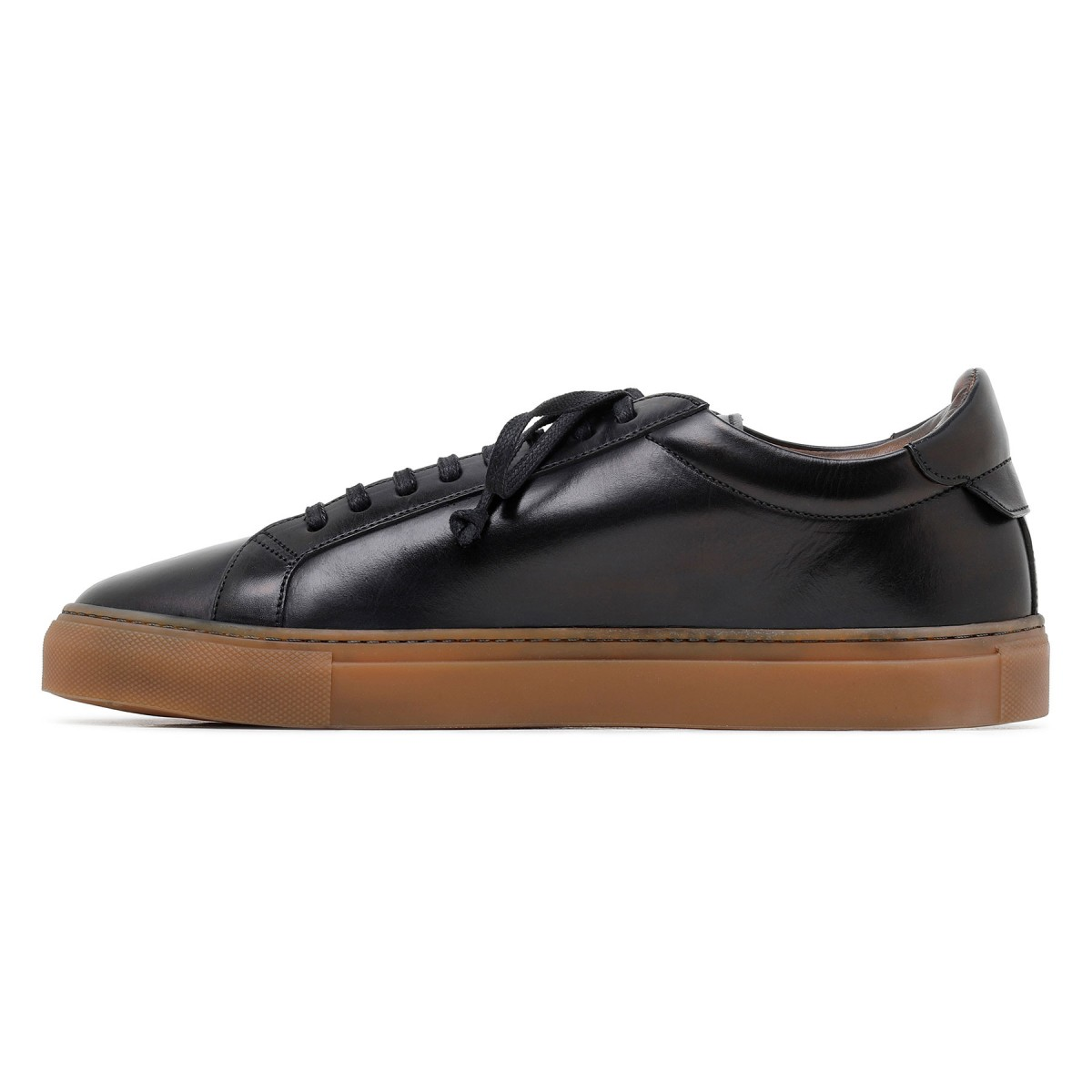 Romilly black leather sneakers