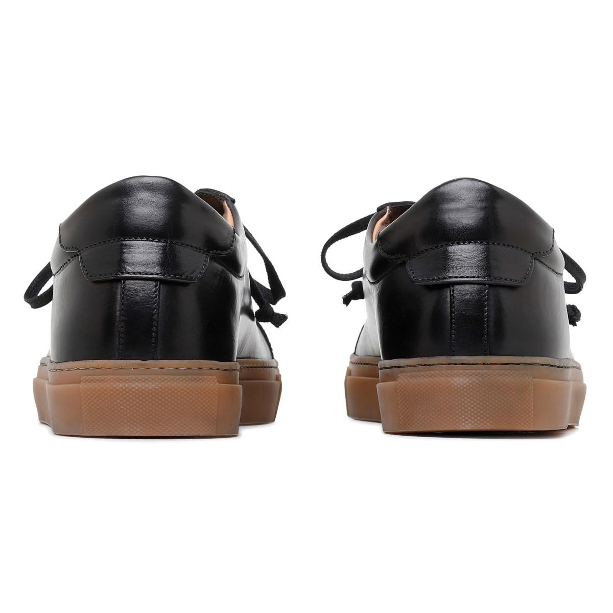Sneaker Romilly in pelle nera