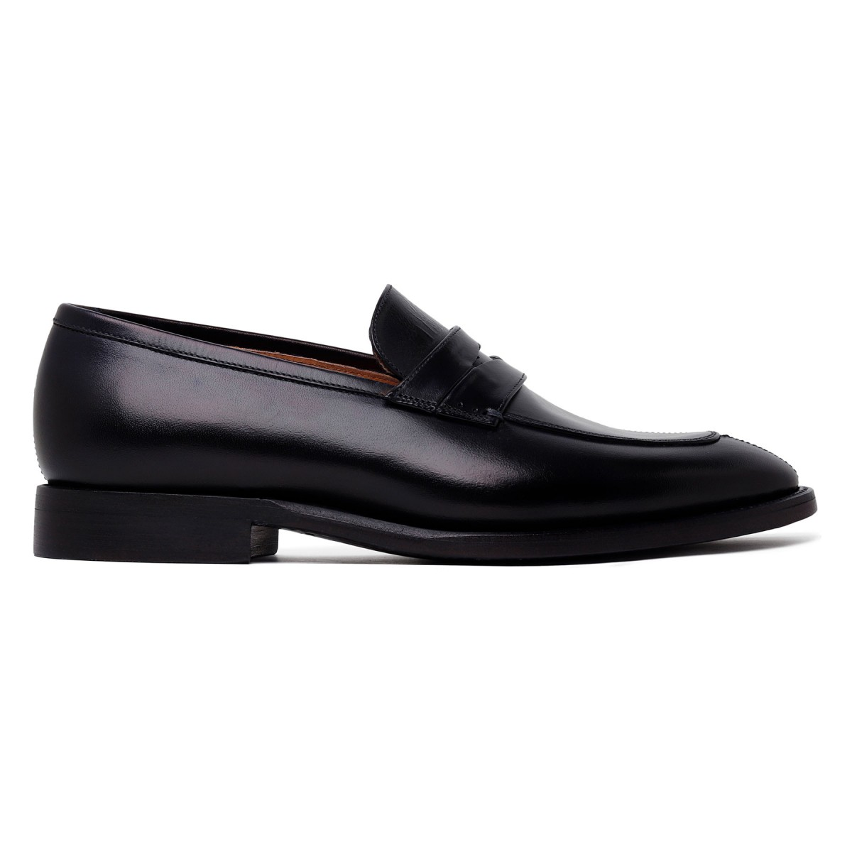 Marsiglia navy leather loafers