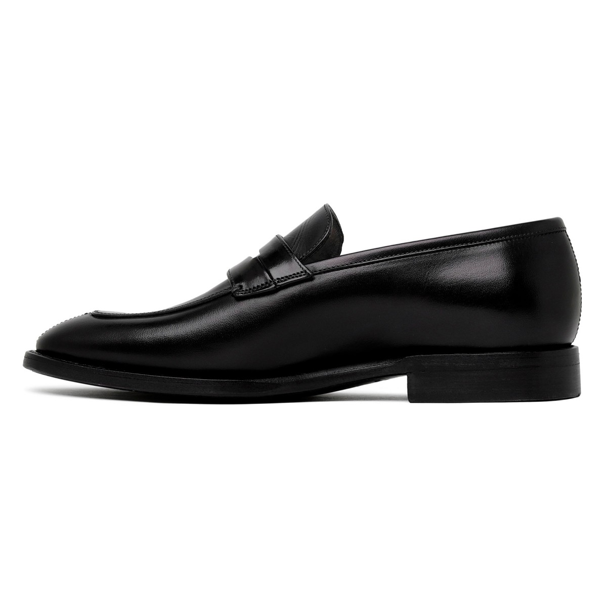 Marsiglia black leather loafers