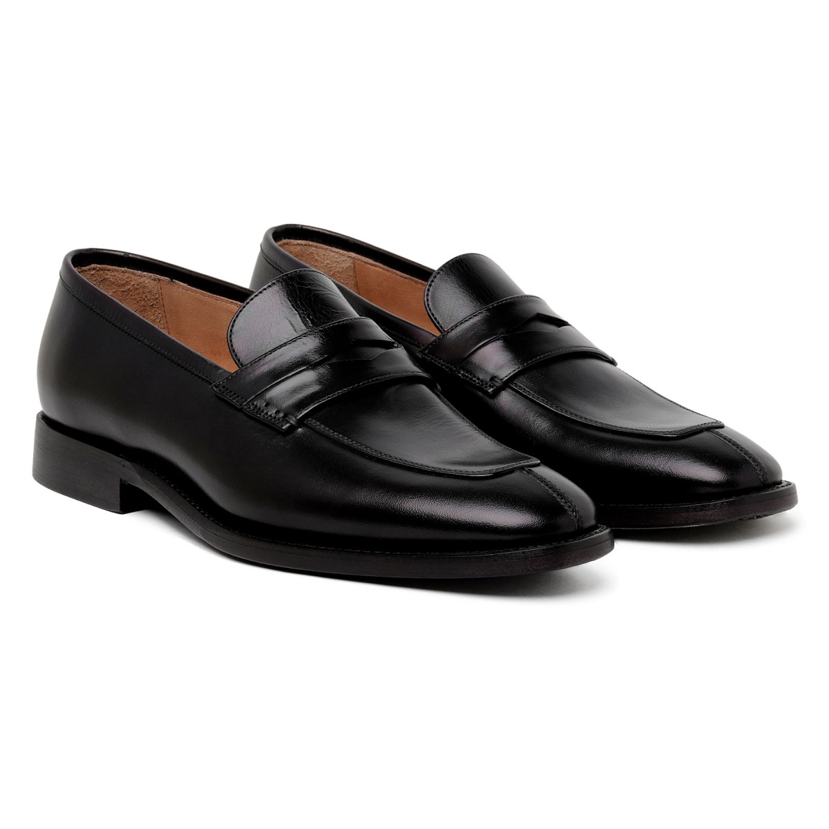 Marsiglia black leather loafers