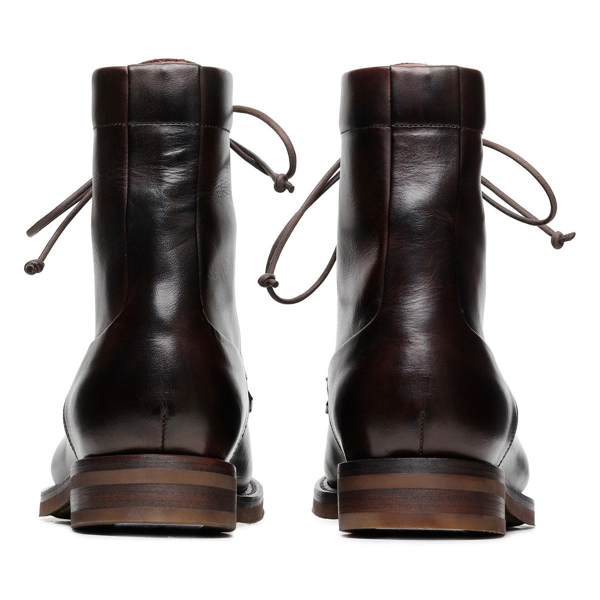 Courmayeur dark brown leather booties