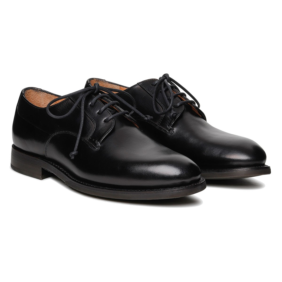 Firenze black leather Derby shoes