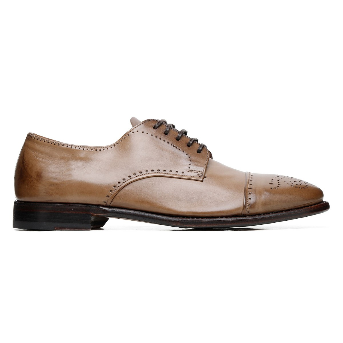 Brogue leather Derby shoes