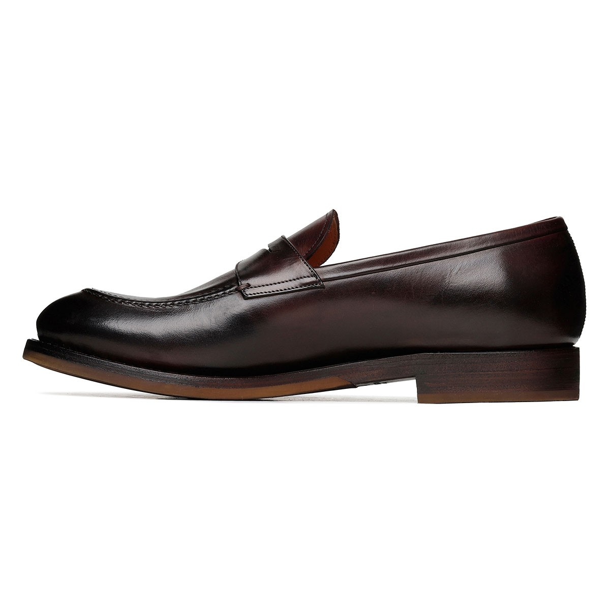 Bologna dark brown leather loafers