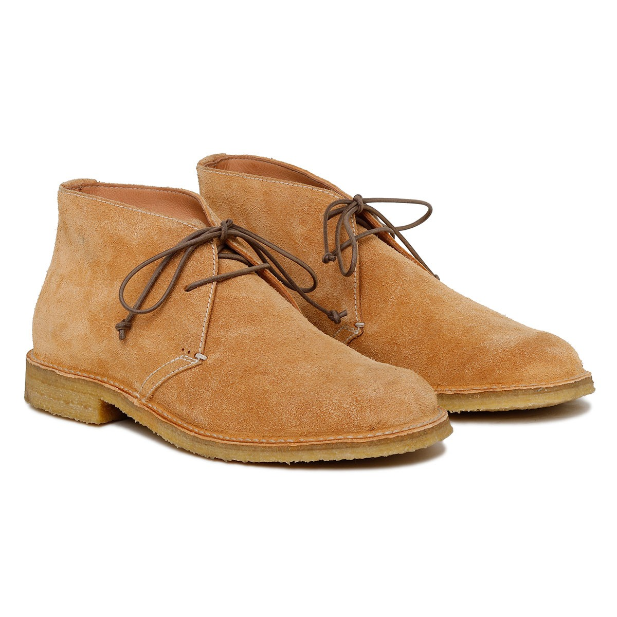 Londra brandy-hue suede ankle boots