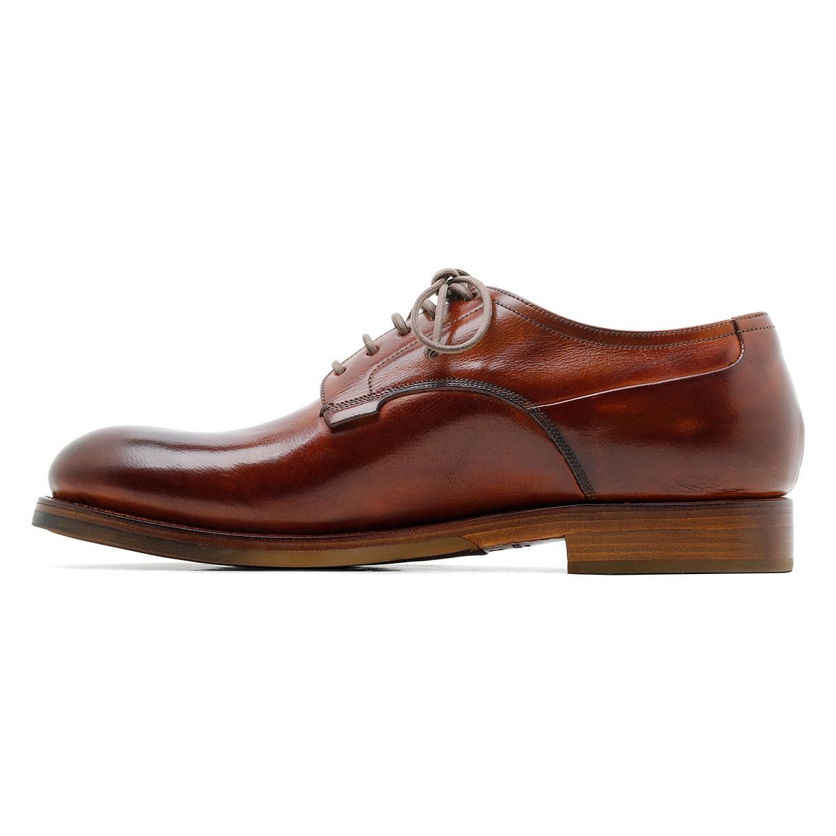 Zurigo brown leather Derby shoes