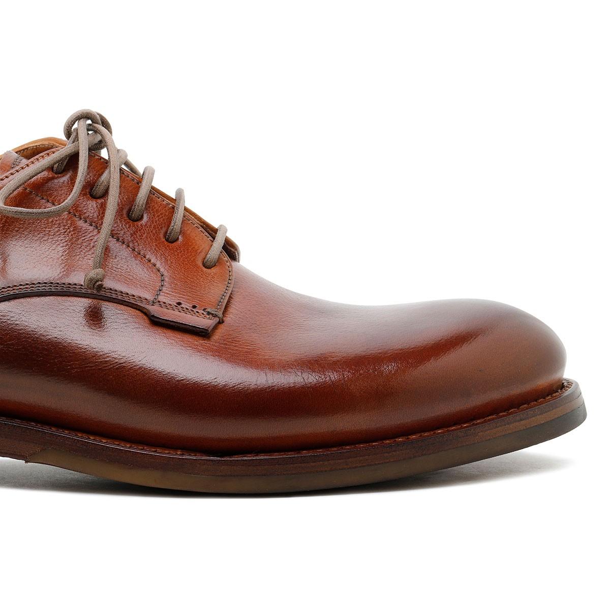 Zurigo brandy-hue leather Derby shoes