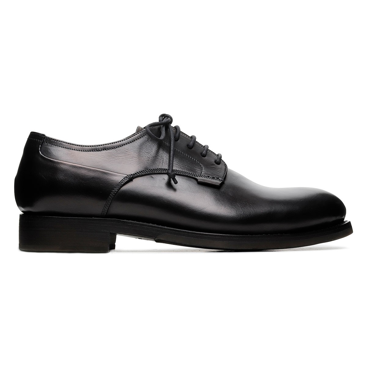 Zurigo black leather Derby shoes