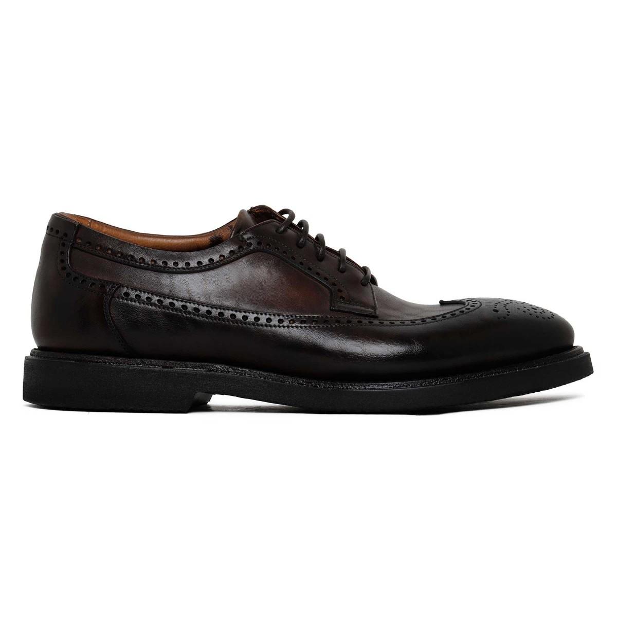 Dark brown leather Derby shoes