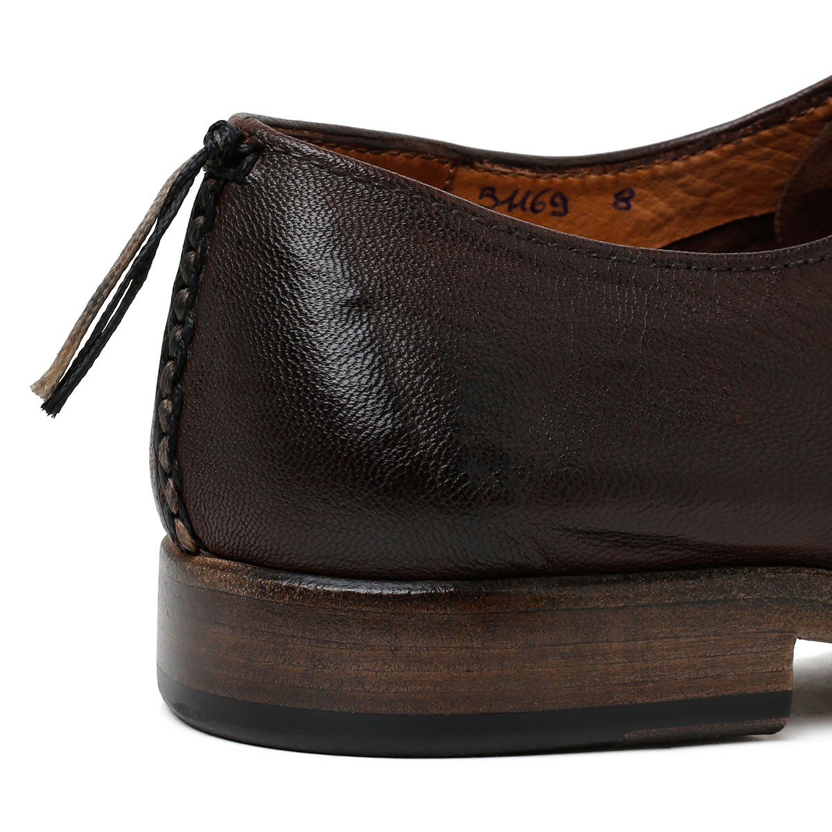 Derby shoes in chocolate Matrix leather