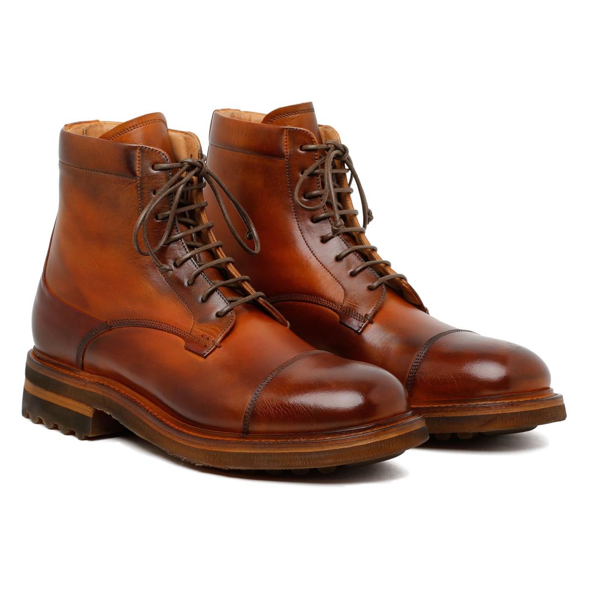 St. Moritz cream leather booties
